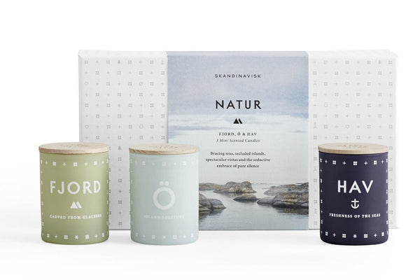 Scented Candle Natur Mini Gift Pack x3