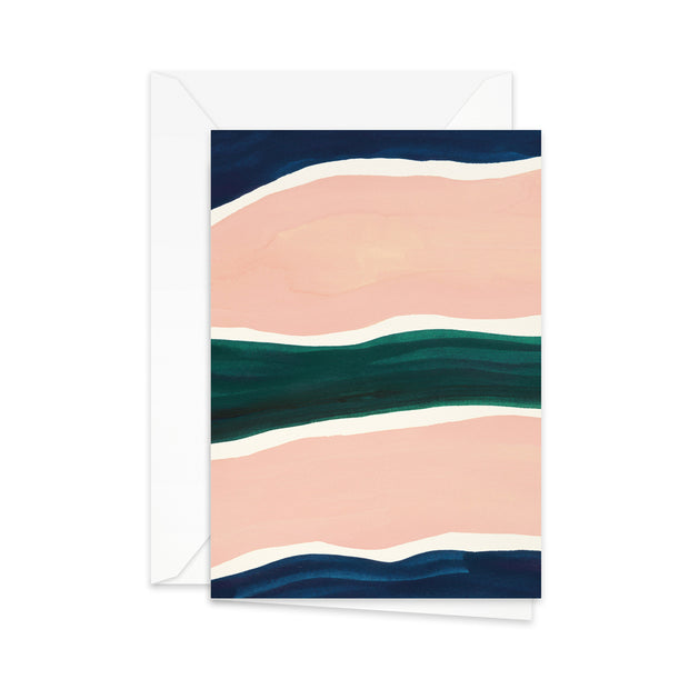 Pretty Paper Greeting Card Stripes - Blabar