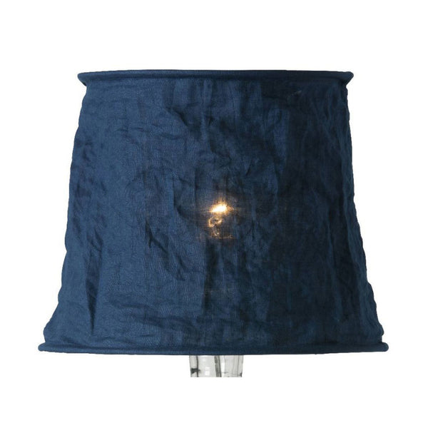 Vivianne Lamp shade in Linen, Navy Blue 19cm