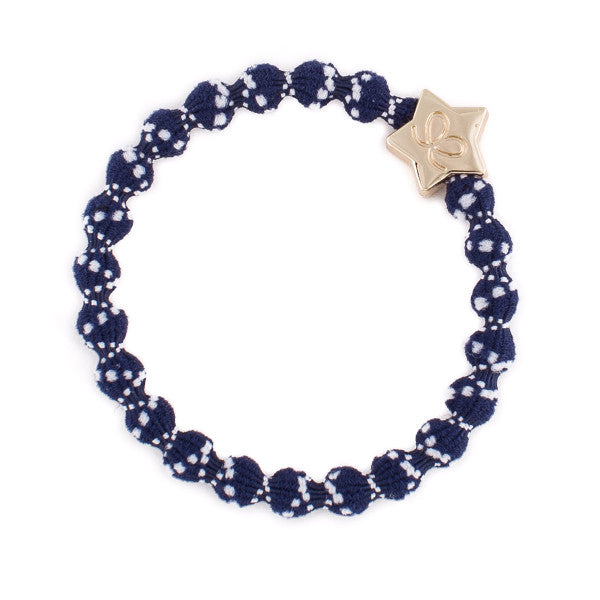 Bangle Band Gold Star · White Dots on Navy - Blabar