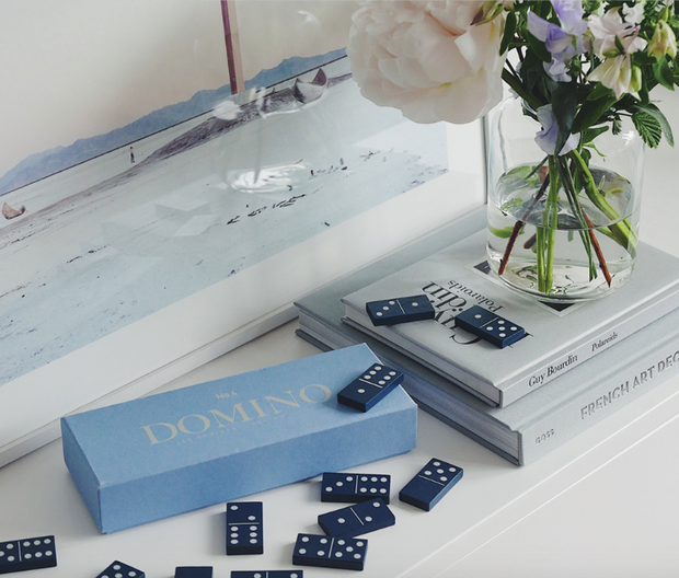Domino - Coffee Table Game - Classic in Blue