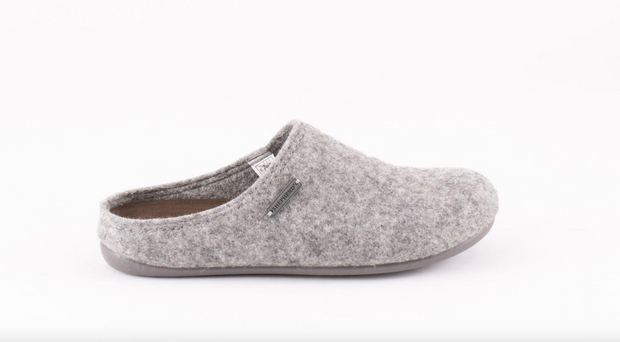 Wool Slippers - Cilla in Grey size 38 - UK 5