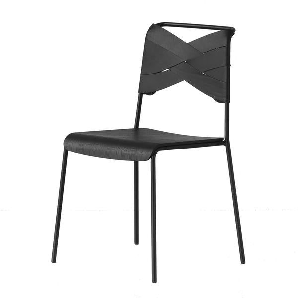 Torso Chair in Black & Black Leather
