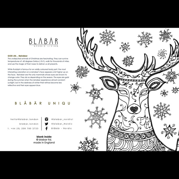 Blåbär Unique Christmas Card, Reindeer