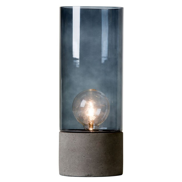 Albin Large Lantern Lamp in Concrete and Glass - Blabar