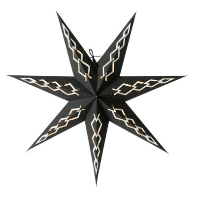 Alva Slim Christmas Star , 44cm Black - Blabar
