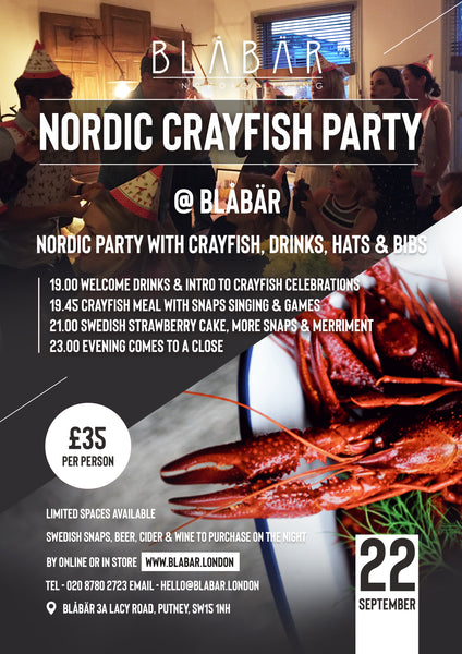 22nd September 2018 Crayfish Party at Blåbär - Blabar