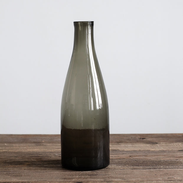 Caila Bottle in Recycled Glass, in Grey 1 Litre