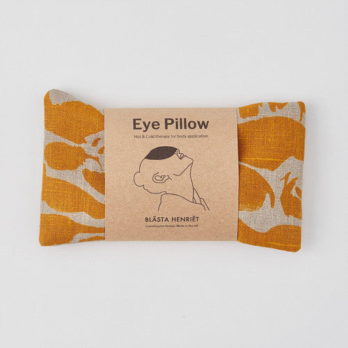 Linen Wheat Bag - Eye Pillow Creatures Yellow - Blabar