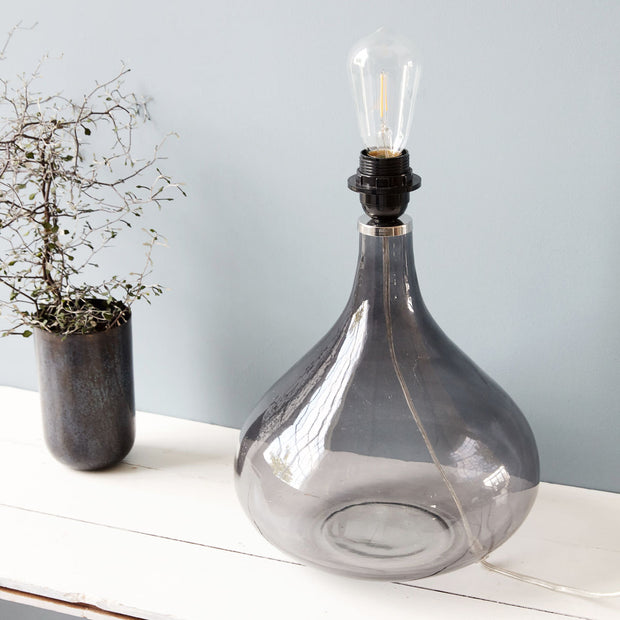 Table Lamp grey glass - Blabar