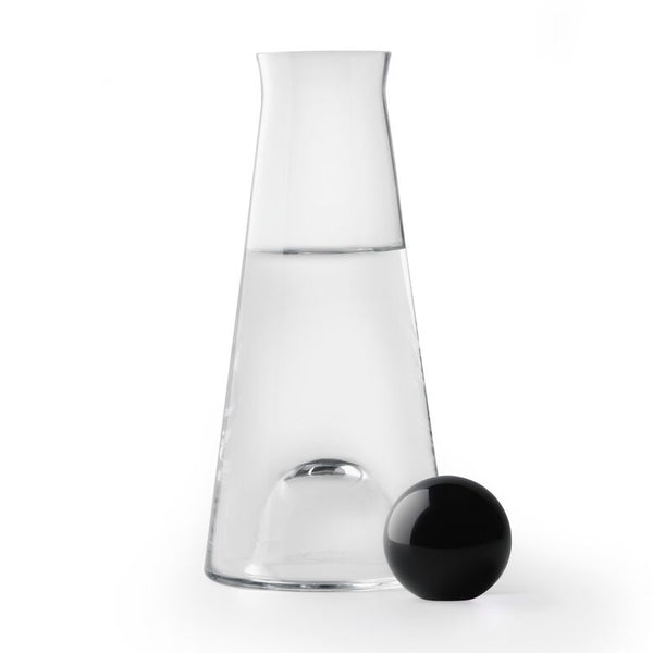 Fia Carafe in Glass Clear & Black - Blabar
