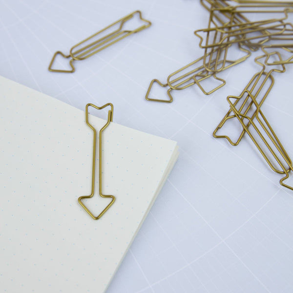 Monograph Paper Clip Arrow Gold