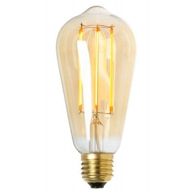 LED lightbulb drop gold E27 4W