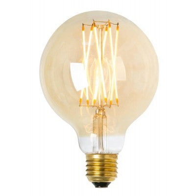 LED lightbulb globe gold 95 E27 4W