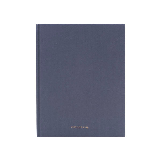 Monograph Notebook in Blue, Lined 25cm
