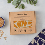 Linen Wheat Bag - Large in Creatures Navy - Blabar