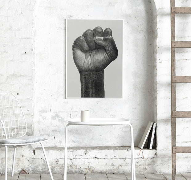 Raised Fist Print 30x40cm - Blabar