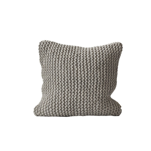 rope cushion cover light grey 50 x 50cm