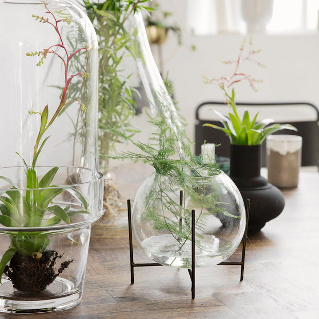 Vase with Stand Ada in Glass, 15cm