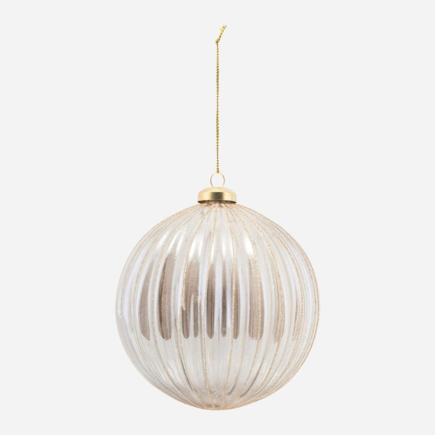 Rilly Glass Bauble Christmas Ornament Silver 12cm