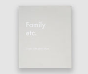 Photo Album, Family etc. in Grey