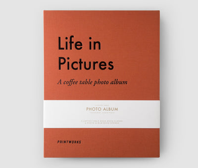 Photo Album, Life In Pictures, Terracotta - Blabar