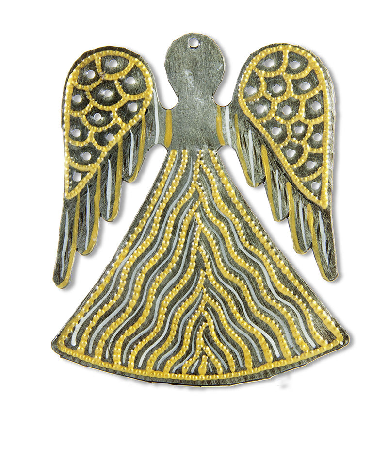 Gold Painted Angel Ornament