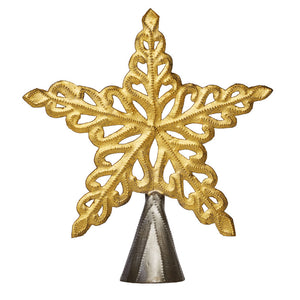 Gold Blooming Star Tree Topper