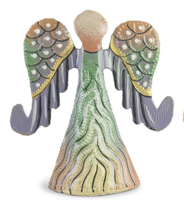 Mini Painted Angels with Curled Wings Set (Set of 4)
