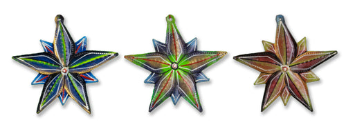 Painted Star Ornaments Set (Set of 3)