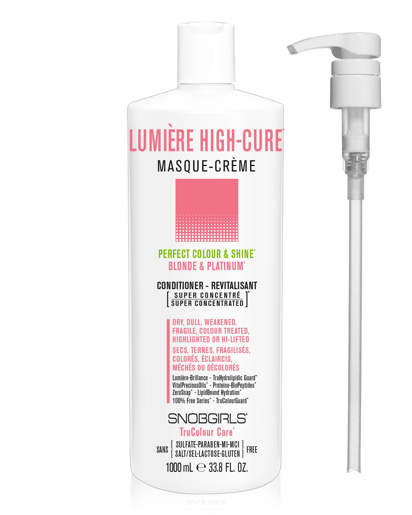 LUMIERE HIGH-CURE Perfect Colour & Shine Masque-Creme (conditioner) - SNOBGIRLS Canada