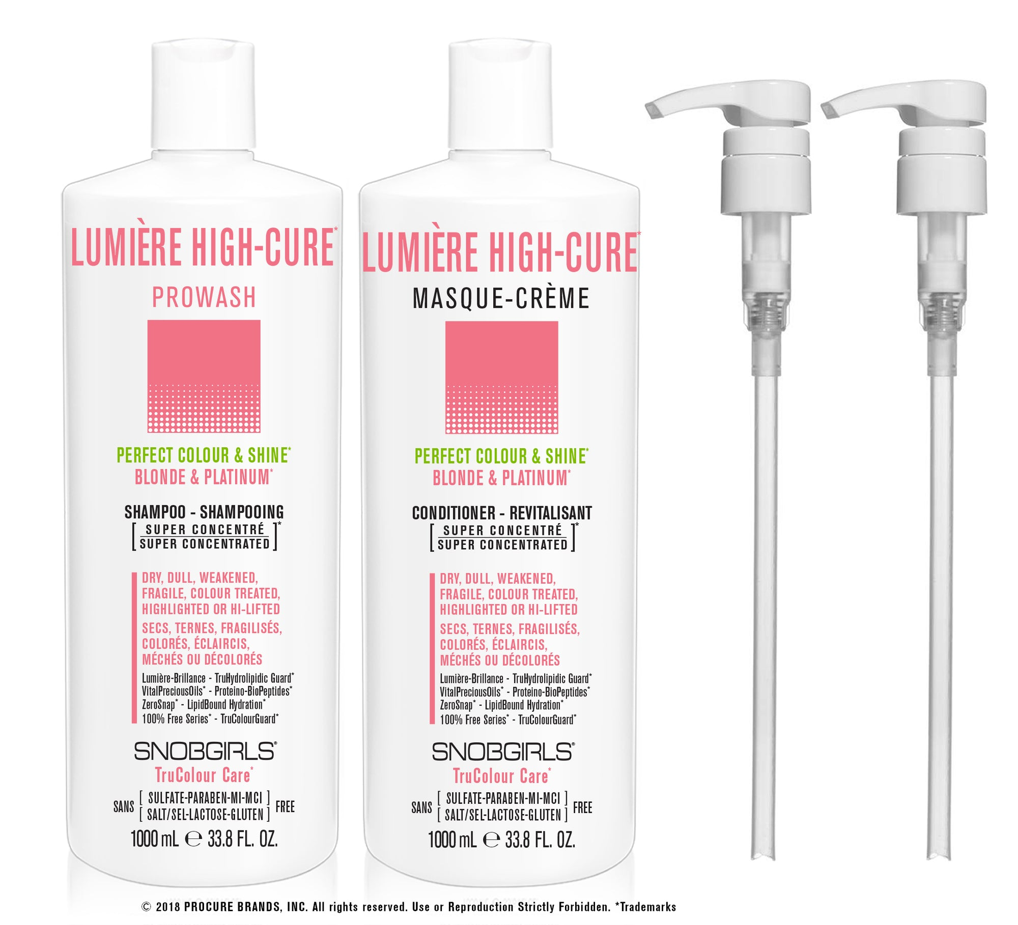 DUO LUMIERE HIGH-CURE - Prowash + Masque-Creme 1000 mL - SNOBGIRLS Canada