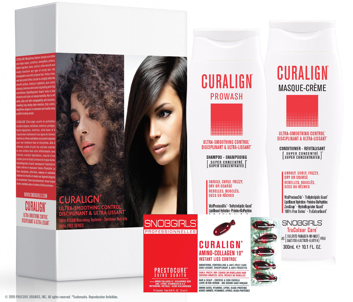 GIFT SETS- 3 X Trio CURALIGN Ultra-Smoothing Control + Detoxcure Prowash Liter - SNOBGIRLS.com
