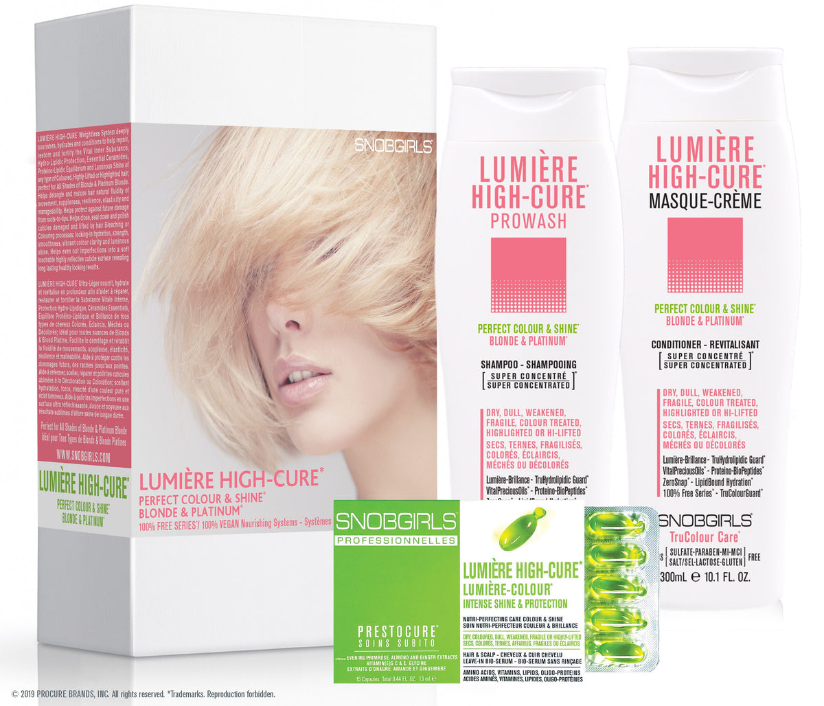 GIFT SETS- 3 X  Trio LUMIERE HIGH-CURE Perfect Colour & Shine + Detoxcure Prowash Liter - SNOBGIRLS.com