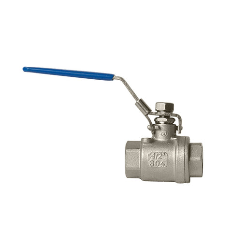 "1/2"" 2 piece Stainless Steel Ball Valve 1000# 304SS"