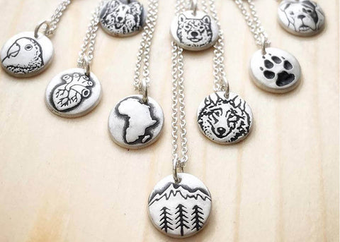 Handmade Silver Pendants from Lulubug Jewelry