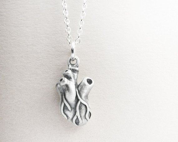 Little Anatomical Heart Necklace