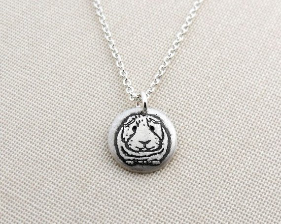 Tiny  Guinea Pig Necklace