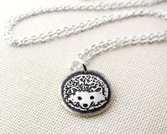 Tiny Hedgehog Necklace