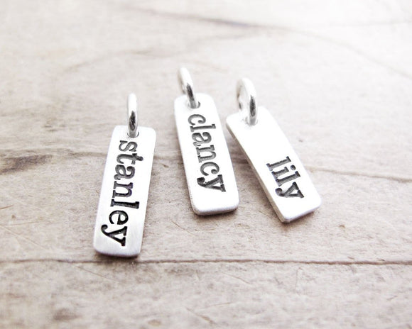 Personalize Your Necklace with a Name, Word or Date tag