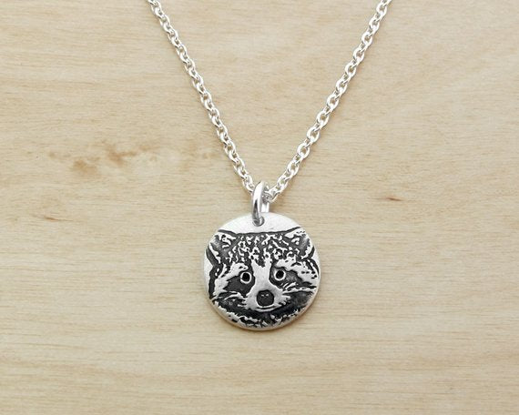 Tiny Raccoon Necklace