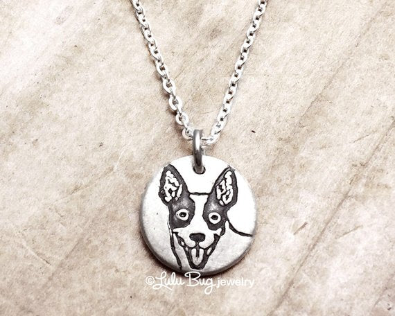 Tiny Rat Terrier Necklace