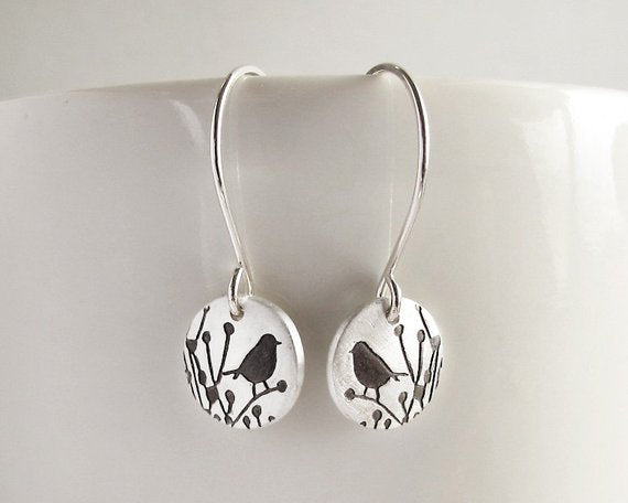 Little Bird Earrings in Silver