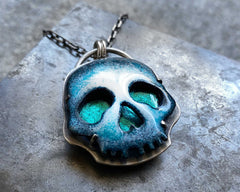 Enameled Skully Necklace