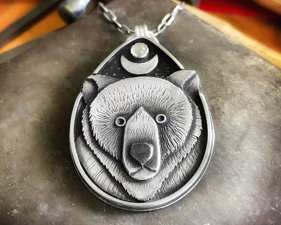 Bear Moon Totem Necklace