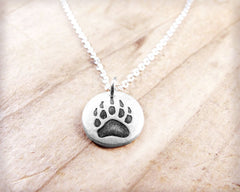 Tiny Bear Paw Necklace