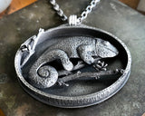 Sterling silver Chameleon necklace