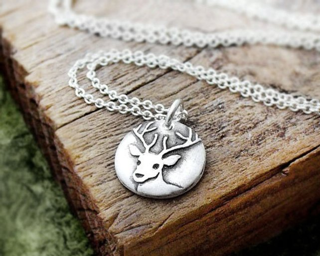 Tiny Deer Necklace