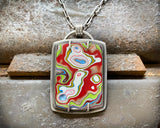 Fordite Necklace in Sterling Silver