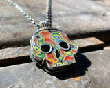Fordite Skull Necklace #4
